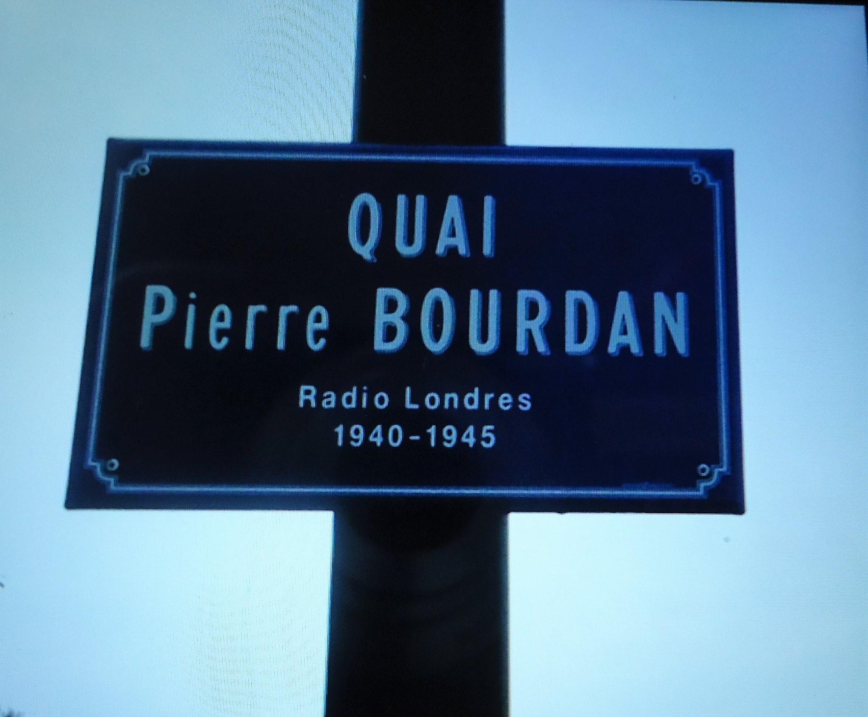 Plaque Quai Pierre Bourdan Perpignan